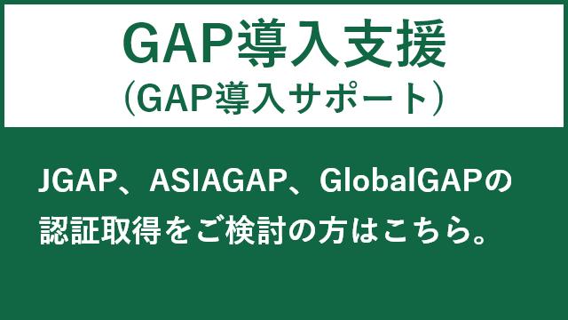 GAP導入指導に関するページはこちら